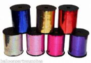 5mm x 250yds Holographic Poly Curling Ribbon 7 Colours Wedding Party Balloons
